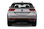Straight rear view of 2020 Volkswagen Atlas-Cross-Sport SE-w/Tech 5 Door SUV Rear View  stock images