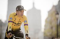 Wout Van Aert (BEL/Jumbo-Visma) returning from sign-on<br /> <br /> 103rd Ronde van Vlaanderen 2019<br /> One day race from Antwerp to Oudenaarde (BEL/270km)<br /> <br /> ©kramon