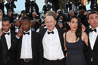 KARIM DRIDI WITH THE CAST OF THE FILM 'CHOUF'- RED CARPET OF THE FILM 'MAL DE PIERRES' AT THE 69TH FESTIVAL OF CANNES 2016