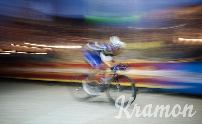 Iljo Keisse's (BEL/Etixx-QuickStep) ghost passing the finish line<br /> <br /> Post-Tour Criterium Mechelen (Belgium) 2016