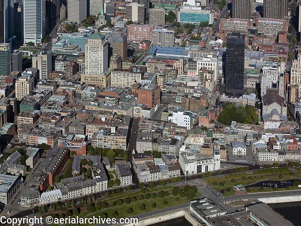 aerial photograph of Ville-Marie, Montreal historic district, Quebec, Canada | photographie aérienne de Ville-Marie, arrondissement historique de Montréal, Québec, Canada