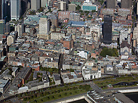 aerial photograph of Ville-Marie, Montreal historic district, Quebec, Canada | photographie aérienne de Ville-Marie, arrondissement historique de Montréal, Québec, Canada
