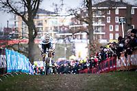 later winner Mathieu Van der Poel (NED/Alpecin Fenix) <br /> <br /> Men Elite Race<br /> UCI Cyclocross Worldcup – Hoogerheide (Netherlands)<br /> <br /> ©kramon