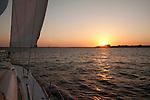 Sailing Sunset charleston south carolina beneteau 49 sailboat yacht cooper river