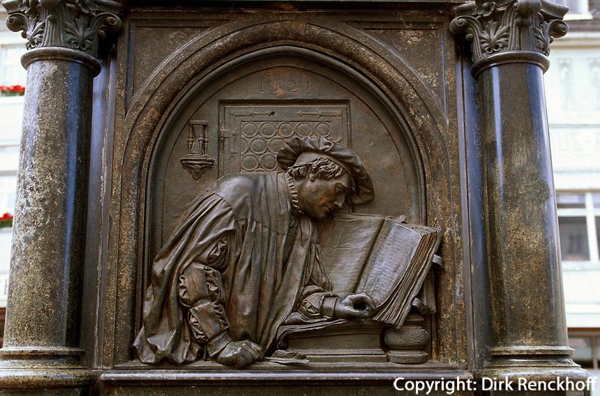 Deutschland, Sachsen-Anhalt, Lutherdenkmal in Eisleben, Unesco-Weltkulturerbe