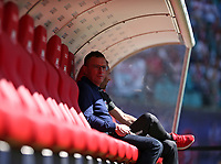 05.05.2018, Football 1. Bundesliga 2017/2018, 33.  match day, RB Leipzig - VfL Wolfsburg, in Red Bull Arena Leipzig. Sportchef Ralf Rangnick (, RB Leipzig)  *** Local Caption *** © pixathlon<br /> <br /> Contact: +49-40-22 63 02 60 , info@pixathlon.de