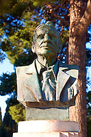 Statue of Arthur Evans at Knossos Minoan archaeological site, Crete