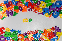 Word Me in magnets on refrigerator