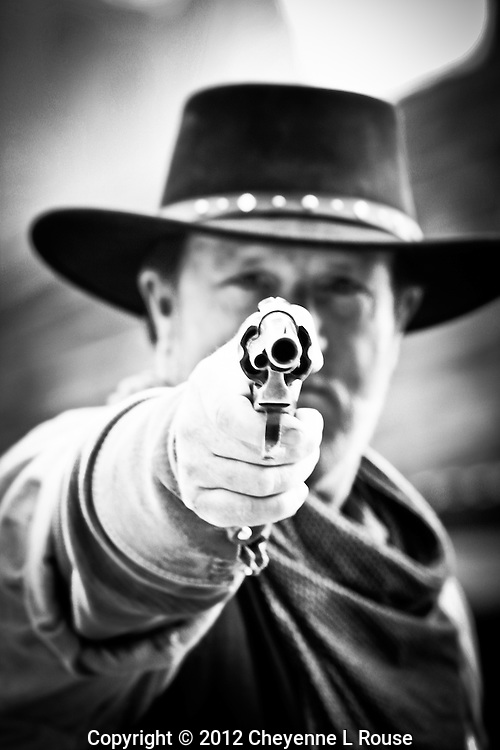 """""""I Said Drop it"""" - Arizona<br /> Gunfighter at Goldfield Ghost Town & Mine in Arizona (MR)<br /> All rights reserved"""
