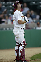 Jeff Clement of the Southern California Trojans waits to bat during a game at Dedeaux Field on February 15, 2003 in Los Angeles, California. (Larry Goren/Four Seam Images)