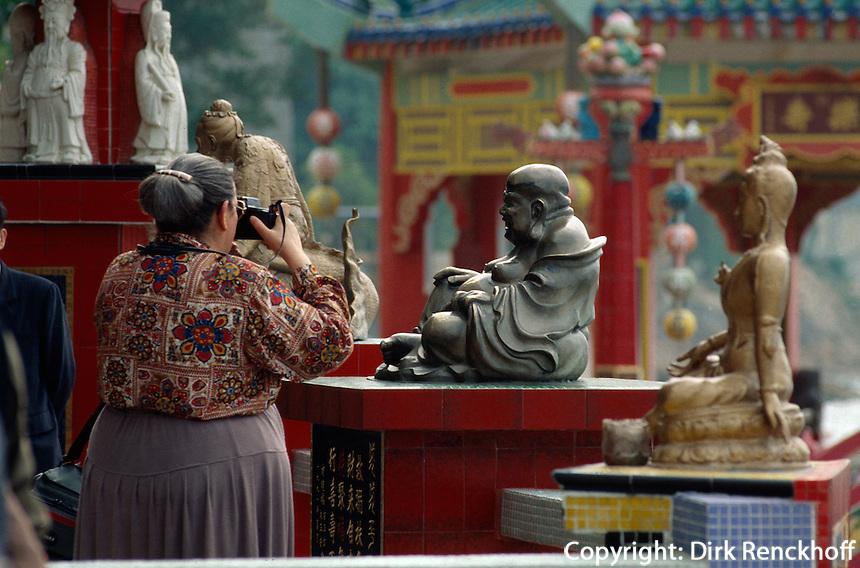 Tempel im LifeGuard-Club, Hongkong-Repulsebay, China