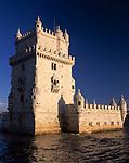 Portugal, Belém: Torre de Belém (manuelinischer Baustil 16. Jh) | Portugal, Belém: Torre de Belém