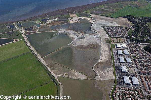 aerial photograph of Hamilton Airfield wetland restoration project, Novato, Marin county, California, 2009