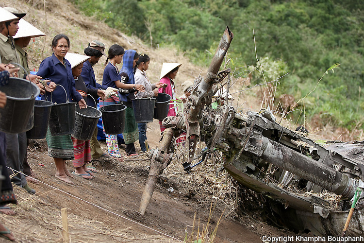 Local villagers are hired to help at a JPAC dig site near Ta Oy, Laos on Wednesday, November 7, 2012. (Star-Telegram/Khampha Bouaphanh)