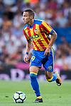 Rodrigo Moreno of Valencia CF in action during their La Liga 2017-18 match between Real Madrid and Valencia CF at the Estadio Santiago Bernabeu on 27 August 2017 in Madrid, Spain. Photo by Diego Gonzalez / Power Sport Images