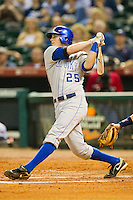 Thomas McCarthy #25 of the Kentucky Wildcats follows through on his swing against the Rice Owls at Minute Maid Park on March 4, 2011 in Houston, Texas.  Photo by Brian Westerholt / Four Seam Images