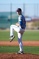 Jesse Rice (45), from Caldwell, Idaho, while playing for the Indians during the Under Armour Baseball Factory Recruiting Classic at Red Mountain Baseball Complex on December 28, 2017 in Mesa, Arizona. (Zachary Lucy/Four Seam Images)