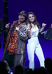 Eric Anderson and Samantha Barks during the Curtain Call for the Garry Marshall Tribute Performance of 'Pretty Woman:The Musical' at the Nederlander Theatre on August 2, 2018 in New York City.