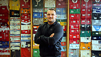 Pictured: Ken Owens at Carmarthen Athletic. Wednesday 26 April 2017<br /> Re: Interview with British Lions rugby player Ken Owens in Carmarthen, Wales, UK
