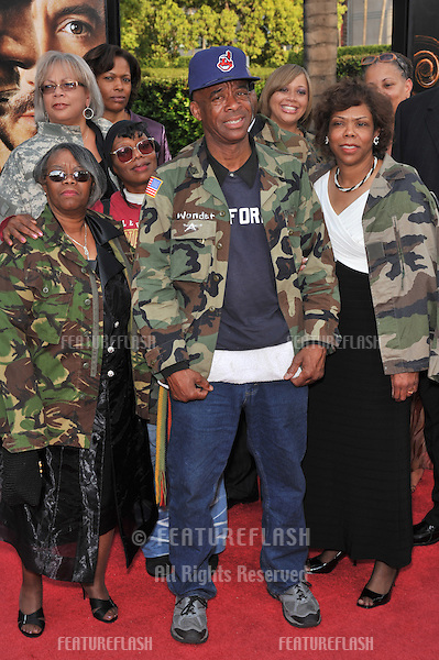 Nathaniel Anthony Ayers & family at the Los Angeles premiere of The Soloist at Paramount Theatre, Hollywood. The movie is based on the story of how journalist Steve Lopez met the homeless Ayers, a former classical music prodigy, playing his violin on the streets of L.A..April 20, 2009  Los Angeles, CA.Picture: Paul Smith / Featureflash