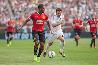 Ann Arbor, Michigan - Saturday August 2, 2014: Manchester United defeated Real Madrid 3:1 during their final group game of the International Champions Cup match at  University of Michigan Stadium