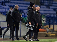 Mansfield Town's caretaker manager Richard Cooper (right) looks on <br /> <br /> Photographer Andrew Kearns/CameraSport<br /> <br /> The EFL Sky Bet League Two - Bolton Wanderers v Mansfield Town - Tuesday 3rd November 2020 - University of Bolton Stadium - Bolton<br /> <br /> World Copyright © 2020 CameraSport. All rights reserved. 43 Linden Ave. Countesthorpe. Leicester. England. LE8 5PG - Tel: +44 (0) 116 277 4147 - admin@camerasport.com - www.camerasport.com