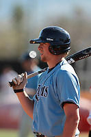 Kevin Stenhouse #28 of the Rhode Island Rams during a game against the Cal State Northridge Matadors at Matador Field on March 14, 2012 in Northridge,California. Rhode Island defeated Cal State Northridge 10-8.(Larry Goren/Four Seam Images)