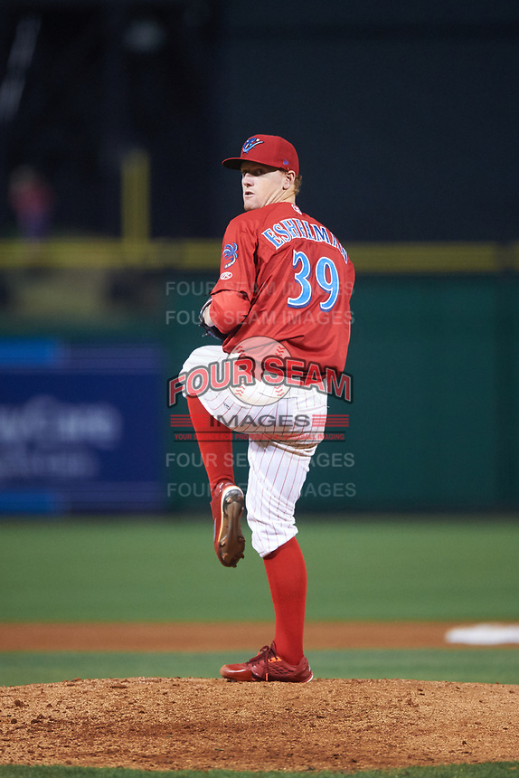 Clearwater Threshers starting pitcher Tom Eshelman during a game against the Daytona Tortugas on April 19, 2016 at Bright House Field in Clearwater, Florida.  Clearwater defeated Daytona 4-1.  (Mike Janes/Four Seam Images)
