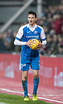 Hearts v St Johnstone…03.02.18…  Tynecastle…  SPFL<br />Scott Tanser<br />Picture by Graeme Hart. <br />Copyright Perthshire Picture Agency<br />Tel: 01738 623350  Mobile: 07990 594431