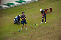 Kerry Mountcastle and Josh Geary practise before the final. Day four of the Brian Green Property Group NZ Super 6s Manawatu at Manawatu Golf Club in Palmerston North, New Zealand on Sunday, 28 February 2021. Photo: Dave Lintott / lintottphoto.co.nz
