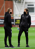 Lincoln City's Harry Anderson, left, and Jorge Grant on arrival at the ground<br /> <br /> Photographer Chris Vaughan/CameraSport<br /> <br /> The EFL Sky Bet League One - Fleetwood Town v Lincoln City - Saturday 17th October 2020 - Highbury Stadium - Fleetwood<br /> <br /> World Copyright © 2020 CameraSport. All rights reserved. 43 Linden Ave. Countesthorpe. Leicester. England. LE8 5PG - Tel: +44 (0) 116 277 4147 - admin@camerasport.com - www.camerasport.com