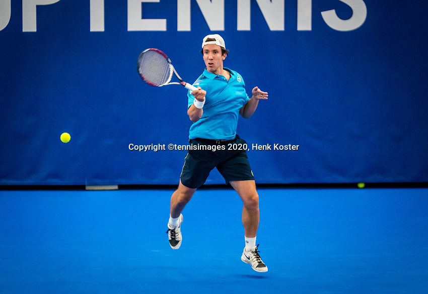 Amstelveen, Netherlands, 18  December, 2020, National Tennis Center, NTC, NK Indoor, National  Indoor Tennis Championships,   :  Igor Sijsling  (NED) <br /> Photo: Henk Koster/tennisimages.com