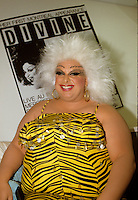 Montreal (Qc) CANADA - May 6 1987 File Photo -<br /> <br /> Transvestite Actress and singer DIVINE first appearance in Montreal, at the POW WOW Club (Now Unity)<br /> <br /> -Photo (c)  Images Distribution