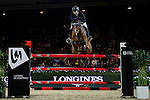 Jane Richard Philips of Switzerland rides Pablo de Virton in action during the Laiterie De Montaigu Trophy as part of the Longines Hong Kong Masters on 14 February 2015, at the Asia World Expo, outskirts Hong Kong, China. Photo by Victor Fraile / Power Sport Images