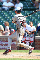 Nicky Delmonico (28) during the 2010 Under Armour All-American Game powered by Baseball Factory at Wrigley Field in Chicago, New York;  August 14, 2010.  Photo By Mike Janes/Four Seam Images
