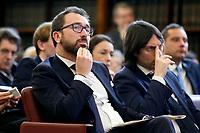 Alfonso Bonafede, Italian minister of justice<br /> Rome February 18th 2020. Senate. Event 'United against the corruption'.<br /> Foto Samantha Zucchi Insidefoto
