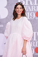 Laura Jacksaon<br /> arriving for the BRIT Awards 2019 at the O2 Arena, London<br /> <br /> ©Ash Knotek  D3482  20/02/2019<br /> <br /> *images for editorial use only*