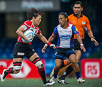 Japan plays Philippines during the ARFU Asian Rugby 7s Round 1 on August 23, 2014 at the Hong Kong Football Club in Hong Kong, China. Photo by Xaume Olleros / Power Sport Images
