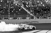 #19: Brandon Jones, Joe Gibbs Racing, Toyota Supra Menards/Turtle Wax celebrates his victory