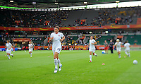 Warm up of team USA during the FIFA Women's World Cup at the FIFA Stadium in Wolfsburg, Germany on July 6thd, 2011.