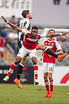 South China's player Mahama Awai contests the ball against Juventus' player Giulio Parodi during the South China vs Juventus match of the AET International Challenge Cup on 30 July 2016 at Hong Kong Stadium, in Hong Kong, China.  Photo by Marcio Machado / Power Sport Images