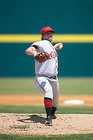 Richmond Flying Squirrels starting pitcher Andrew Suarez (41) delivers a pitch during a game against the Binghamton Mets on June 26, 2016 at NYSEG Stadium in Binghamton, New York.  Binghamton defeated Richmond 7-2.  (Mike Janes/Four Seam Images)