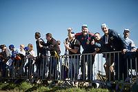 Oude Kwaremont roadside fans<br /> <br /> 100th Ronde van Vlaanderen 2016