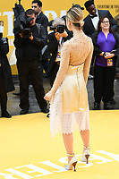 """Lily James<br /> arriving for the """"Yesterday"""" UK premiere at the Odeon Luxe, Leicester Square, London<br /> <br /> ©Ash Knotek  D3510  18/06/2019"""