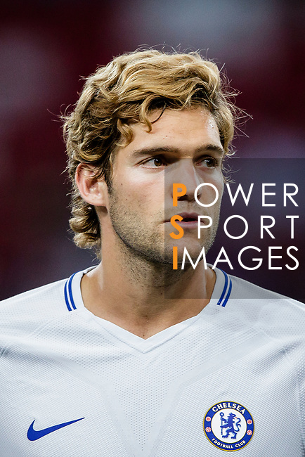 Chelsea Defender Marcos Alonso getting into the field during the International Champions Cup 2017 match between FC Internazionale and Chelsea FC on July 29, 2017 in Singapore. Photo by Marcio Rodrigo Machado / Power Sport Images