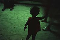 An Aeta girl begs in boracay island, Aklan. October, 2000
