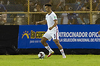 SAN SALVADOR, EL SALVADOR - SEPTEMBER 2: Antonee Robinson #5 of the United States moves with the ball during a game between El Salvador and USMNT at Estadio Cuscatlán on September 2, 2021 in San Salvador, El Salvador.