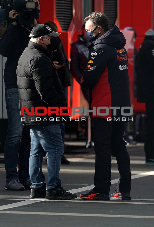 11.10.2020, Nürburgring, Nürburg, Formula 1 Aramco Grosser Preis der Eifel 2020<br /> , im Bild<br />Norbert Vettel (Vater von Sebastian Vettel (GER#5), Scuderia Ferrari), Christian Horner (Red Bull Racing)<br /> <br /> Foto © nordphoto / Bratic