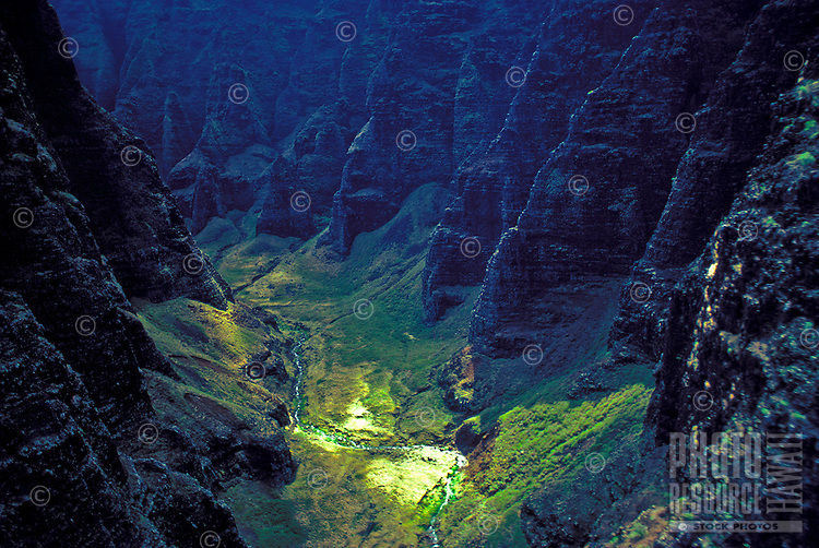 """The densely jungled valley of Honopu was thought to be the last home of the Menehune and is often referred to as the """"""""Valley of the Lost Tribe."""""""" The beach in this area is where Jessica Lange eluded King Kong in the 1976 remake of the classic King"""