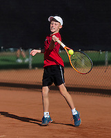 Netherlands, Rotterdam August 05, 2015, Tennis,  National Junior Championships, NJK, TV Victoria, Stef Sniekers   Ruben van Lieshout<br /> Photo: Tennisimages/Henk Koster